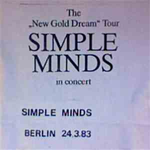 "Simple Minds - The ""New Golden Dream"" Tour FLAC"