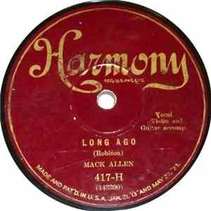 Mack Allen - Long Ago / The Mississippi Flood Song (On The Old Mississippi Shore) FLAC