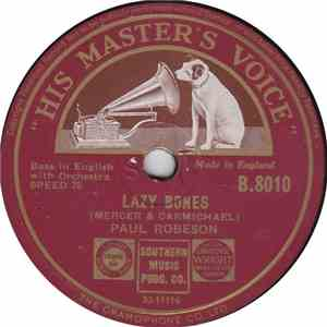Paul Robeson - Lazy Bones / Carry Me Back To Green Pastures FLAC