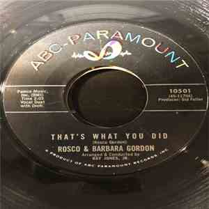 Rosco Gordon, Barbara Gordon - That's What You Did / I Don't Stand A Chance FLAC