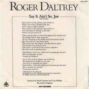 Roger Daltrey - Say It Ain't So Joe FLAC
