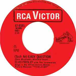 Elvis Presley With The Jordanaires - It Feels So Right / (Such An) Easy Question FLAC