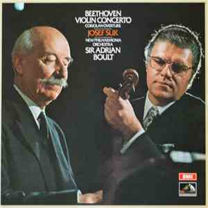 Beethoven / Josef Suk, New Philharmonia Orchestra, Sir Adrian Boult - Beethoven Violin Concerto, Coriolan Overture FLAC
