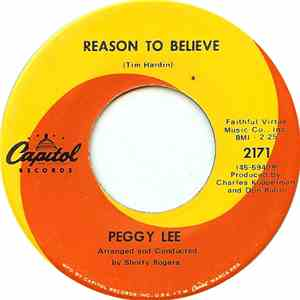 Peggy Lee - Reason To Believe FLAC